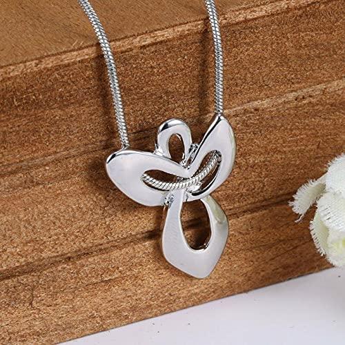 Fashion Women's Crystal Sliver Cross Love Heart Pendant Necklace Jewelry - Cross