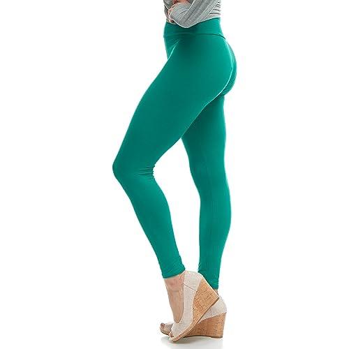 11f2f8d6f6781 LMB Women's Extra Soft Leggings with High Yoga Waist Pants 40+ Colors Plus  Sizes