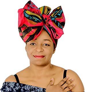 Novarena Solid Colors Soft Stretch Headwraps Headband Long Hair Head Wrap Scarf Turban Tie Jersey Knit African head wraps