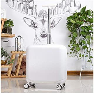 JXSHQS Travel Luggage Trolley Business Boarding Passcode Box Multi-Section Silent Caster Company Gift Luggage Waterproof Light 42x23x41cm Trolley case (Color : White, Size : 42x23x41cm)