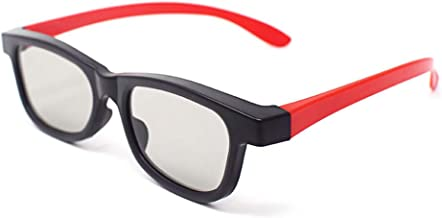 1 Pair of Red and Black Adults Passive 3D Glasses Universal Stylish Mixed Colour Design for All Passive TVs Cinema and Projectors Such as RealD Toshiba LG Panasonic and More