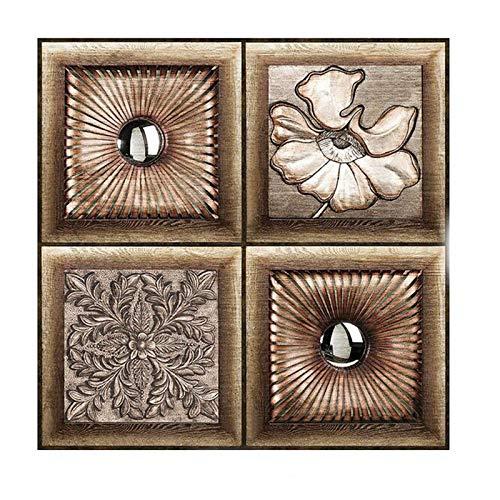 JHM-10 Piezas Decorativos Azulejos Pegatina,Efecto 3D, Cenefa Autoadhesivo, para Baño Y Cocina