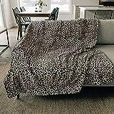 Graced Soft Luxuries Throw Blanket Fleece Minky Microfiber Soft Throw (Leopard, Throw 50' x 60')