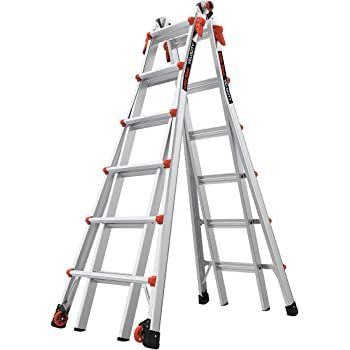 Little Giant Ladders, Velocity with Wheels, M26, 26 Ft, Multi-Position Ladder, Aluminum, Type 1A, 300 lbs weight rating, (15426-001)