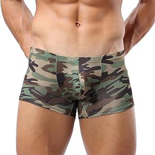 Men's Camouflage Boxer Briefs Trunks Bulge Pouch Military Underwear Underpant Zulmaliu
