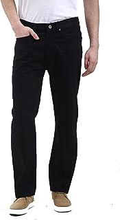 shelikes Mens Jeans Original Cotton Plain Straight Leg Denim Boys Casual Classic Fit Pocket Pants