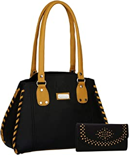 fantosy Women's Shoulder Bag (FNB-216_360_Black)