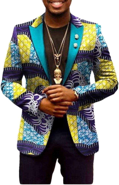 Mfasica Mens Sweatshirt Floral Africa Batik Leisure Dashiki Simplicity Blazer