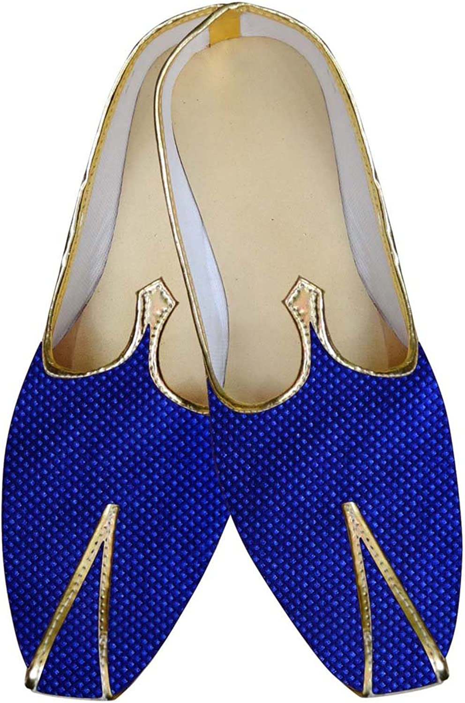 INMONARCH Mens bluee Wedding shoes Threaded Box Design MJ015619