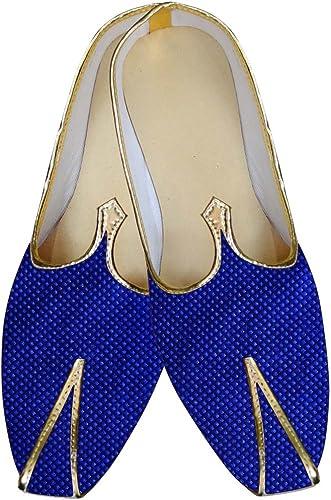 INMONARCH Herren Blau Hochzeit Schuhe mit Gewinde Box Design MJ015619