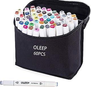 comprar comparacion OLEEP 60 Colores Rotulador permanente de graffiti con doble punta, para dibujar bocetos de arte, pintar, colorear y subrayar