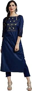 Jaipur Kurti Women's silk straight Kurta