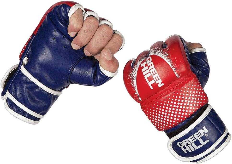 Leather Grappling Gloves Boxing Gloves Cage Fight MMA Muay Thai Size M /& L