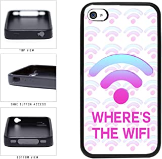 Funny Where's The Wifi TPU RUBBER Phone Case Back Cover Apple iPhone 4 4s includes BleuReign(TM) Cloth and Warranty Label