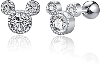Girls  Casual  Cutie MICKEY MOUSE Outline Stud Earrring ~ 8 mm