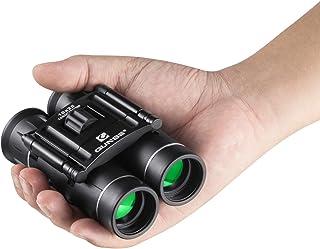 QUNSE mini-zakverrekijker, 10x25 compacte opvouwbare verrekijker Telescoop met waterdicht voor volwassenen/kinderen/reize...