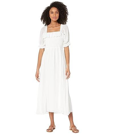 WAYF Jolene Smocked Midi Dress Women