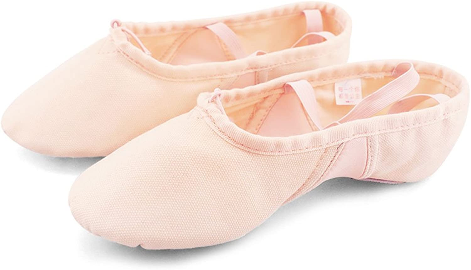 Daydance Canvas Ballet shoes for Girls Stretch Split Sole Gymnastics Dance shoes for Toddler, Kids, Women