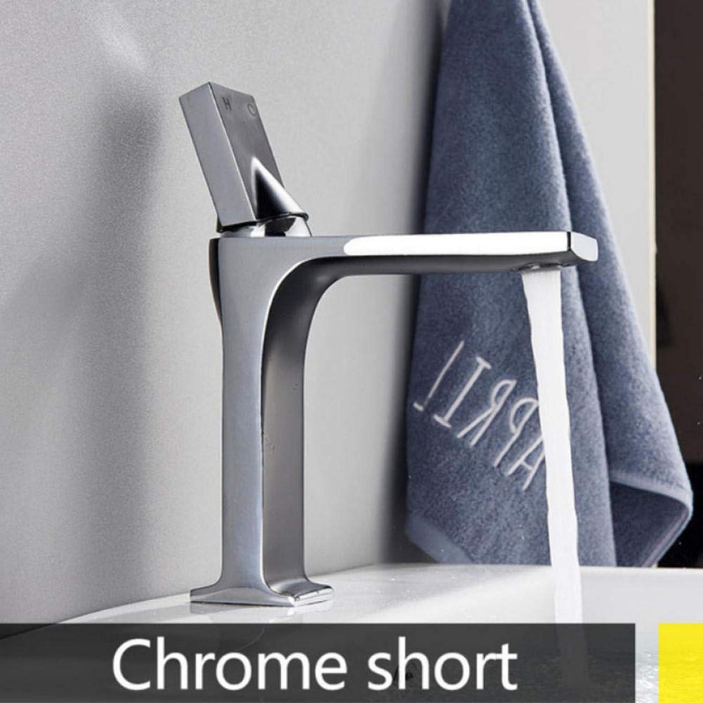 Hiwenr Becken Wasserhahn Royal Style Elegante Einhand Bad Wasserhahn Kalt Warm Mischbatterie Messing Kran Deck Montiert Chrom