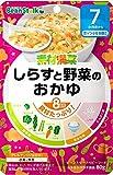 ビーンスタークベビーフード 素材満菜 しらすと野菜のおかゆ 80g(7ヶ月~)【3個セット】