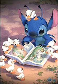 5D DIY Full Drill Diamond Painting Kit, Rhinestone Painting Kits for Adults and Children Embroidery Arts Craft Home Decor Cartoon Anime Series14 x 18 inch (Duck and Stitch, 35x45cm)