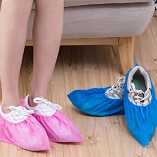 100 Thick Non-woven Wholesale Disposable Shoes Cover Shoe Sheaths With Overshoes Breathable Anti-skid Shoe Sheaths Men Wom...