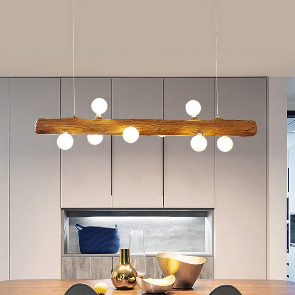 Lámparas De Araña LED Lámpara Colgante Rústica Mesa Comedor De Madera Lámpara De Techo Moderna De Cristal Con Bombilla G4 Altura Ajustable 8 Candelabros Araña De Luces Para Cocina Sala Estar Oficina: