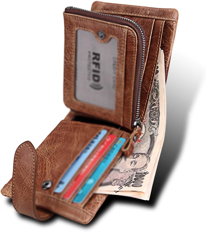Sakuldes Cracy Horse Leather RFID RFID RFID Blocking Brieftasche für Männer mit ID-Fenster B07Q1ZNJ9P 4ffe7b
