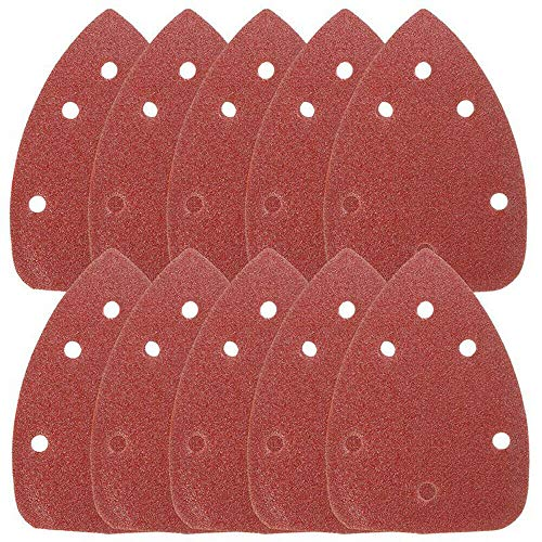 SUPERTOOL Papel de lija para ratón, almohadillas de lija de detalles, 6 agujeros con gancho y bucle para lijadora negra y decker (30 unidades, grano 60)