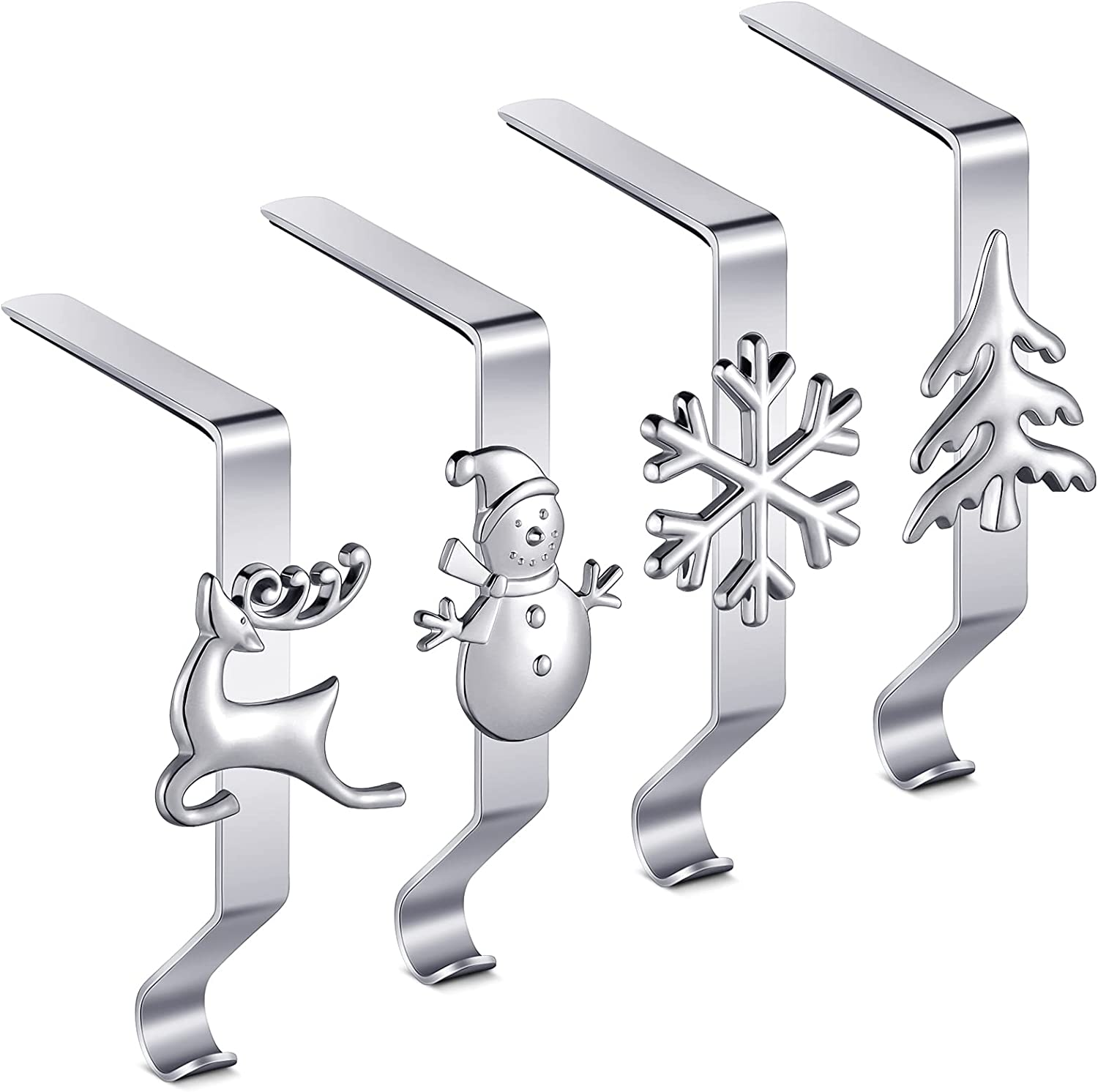 Ripeng 4 Los Angeles Mall Pieces Christmas Stocking Hooks Clip Mantel Wholesale Ho