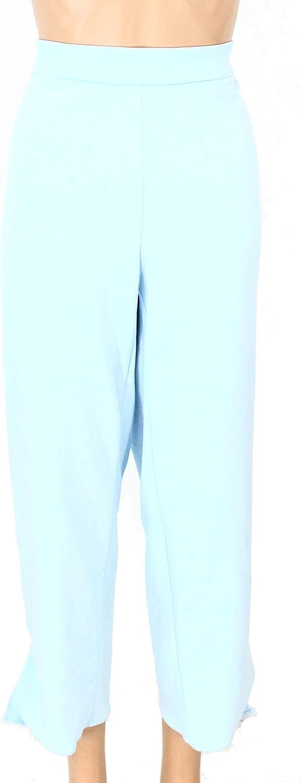 Alfani Womens Light Blue Ruffled Straight Leg Wear to Work Pants Size 22W