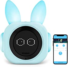 VOBOT Alarm Clock for Kids, Night Light Sound Machine with Amazon Alexa, Time to Rise Smart Sleep Trainer Clock for Kids/Toddlers - Light Blue …