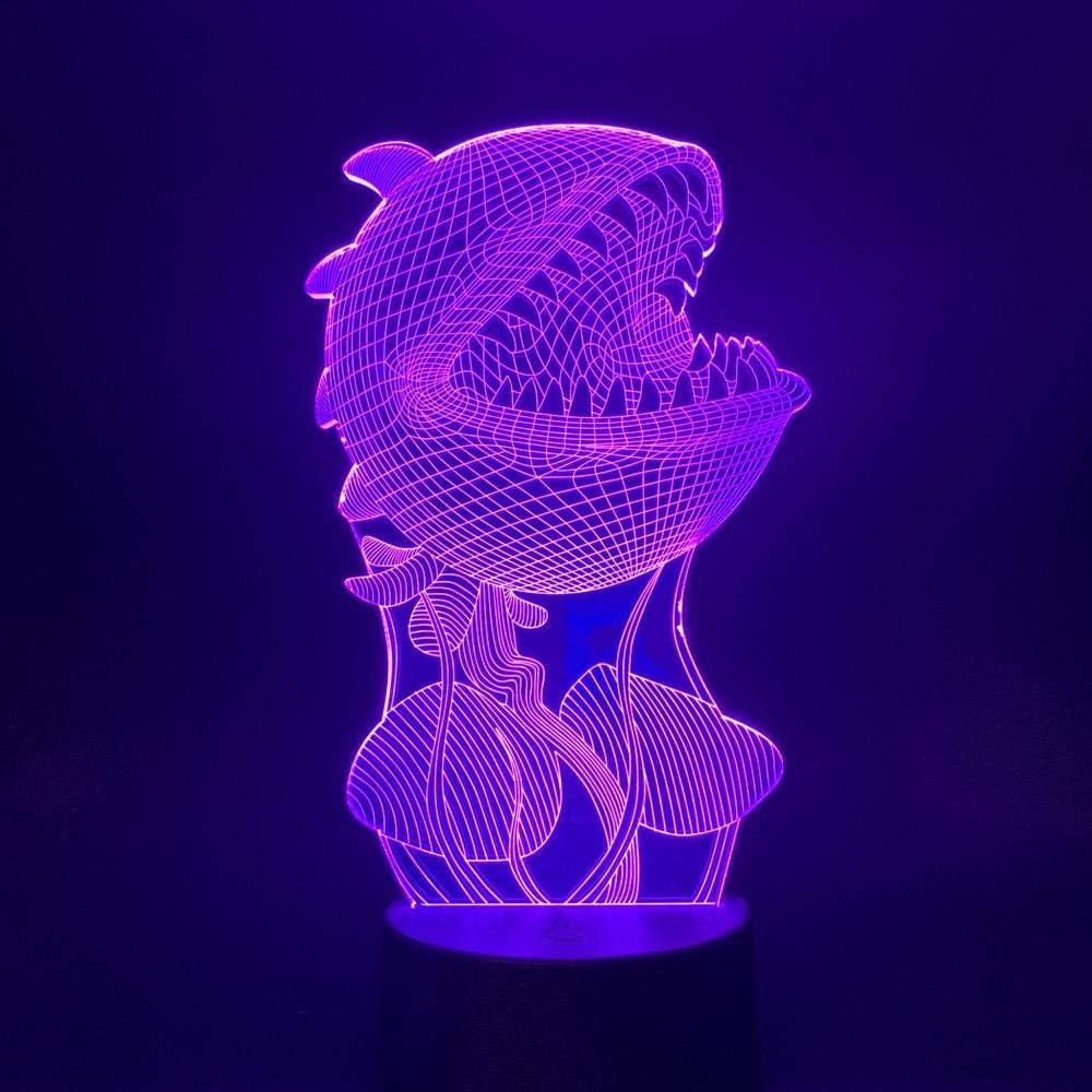Piranha Night Light Albuquerque Mall 3D Sleep Flash USB Remote Sale SALE% OFF Control Led