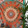momomus Arazzo Mandala - Stella- 100% Cotone, Grande, Multiuso - Telo Arredo Copridivano/Copritutto - Copriletto Matrimoniale - Plaid/Gran Foulard per Divano - Arancia, 210x230 cm #1