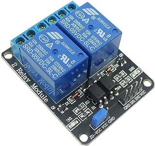 Easy textopalabra Mall 2 canales de relé de 5 V para Arduino PIC AVR DSP MCU Módulo de relé