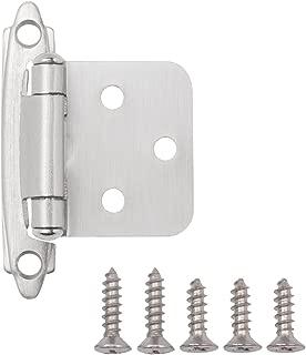 AmazonBasics AB-4009 Hinges, 1/2 inch overlay, Satin Nickel