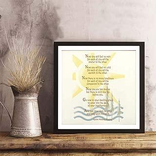 i-zehibho-i Wall Art - Apache Wedding Blessing Fashion Decor Art Print - 10x10in with Frame