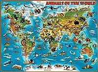 世界の地図大人のための1000ピースのパズルで自分自身に挑戦する10代の家族の楽しみに最適マルチカラーパズル大人のパズル–家族のパズル教育ゲームパズル1000ピース