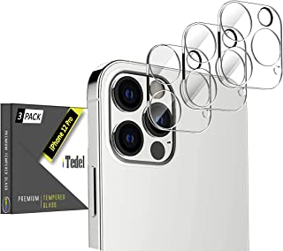 iTedel [3 Pack] 3D Camera Lens Protector for iPhone 12 Pro, HD Clear Tempered Glass 9H Anti-Scratch Anti-Fingerprints with...