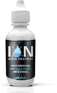 ION Alkaline Water Drops | Water Storage Purification pH Drops for Drinking Water Use All Natural Ingredients | 2 Ounce.