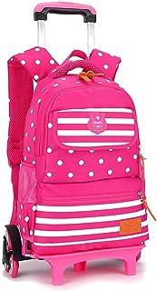 KJRJLG Rolling Backpack for Girls and Boy Rolling School Backpack with Wheels Laptop Backpack Roller Backpack (Color : Red)