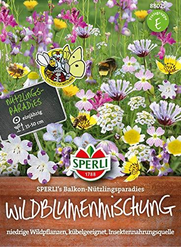 88025 Sperli Premium Blumenmischung Samen Nützlingswiese Balkon | Niedrigwachsend | Wildblumen | Blumenmischung Saatgut