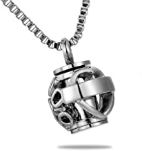 HooAMI Hollow Heart Pet Paw Beads Always in My Heart Cremation Urn Necklace