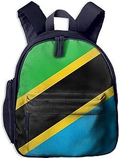 Pinta Flag of Tanzania Cub Cool School Book Bag Backpacks for Girl's Boy's