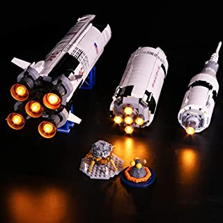 Vonado Lighting Kit for Creative The Apollo Saturn V Launch Vehicle Building Blocks,Compatible Lego 21309 Building Kit Toys Christmas,Halloween,Birthday Gift(Not Include Lego Set)