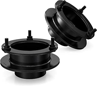 RockTrix Front Leveling Kit - 2.5 inch Lift - Compatible with 4WD Dodge Ram Trucks - 1994-2001 Ram 1500, 1994-2013 Ram 2500, 1994-2012 Ram 3500 - Black Steel Spacers Coil Spring Spacers