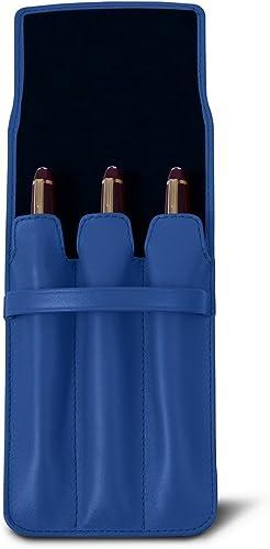 buscando agente de ventas Lucrin - Estuche para 3 bolígrafos - Cielo Cielo Cielo azul - Piel Liso  Mejor precio