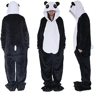44209ae5d29af BLACK SUGAR Idée Mardi Gras / Noir Panda S Kigurimi Pyjama Grenouillère Animaux  Combinaison pour Adulte