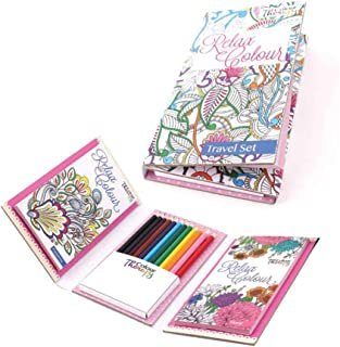 Adult Colouring Book Travel Set, Pack of 6