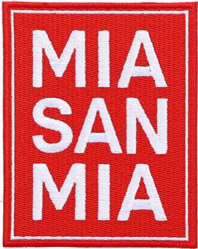 FC Bayern München Aufnäher Mia san mia 10x5cm